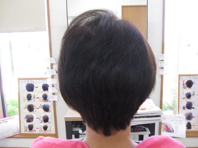 髪が多くなった気がするわ!