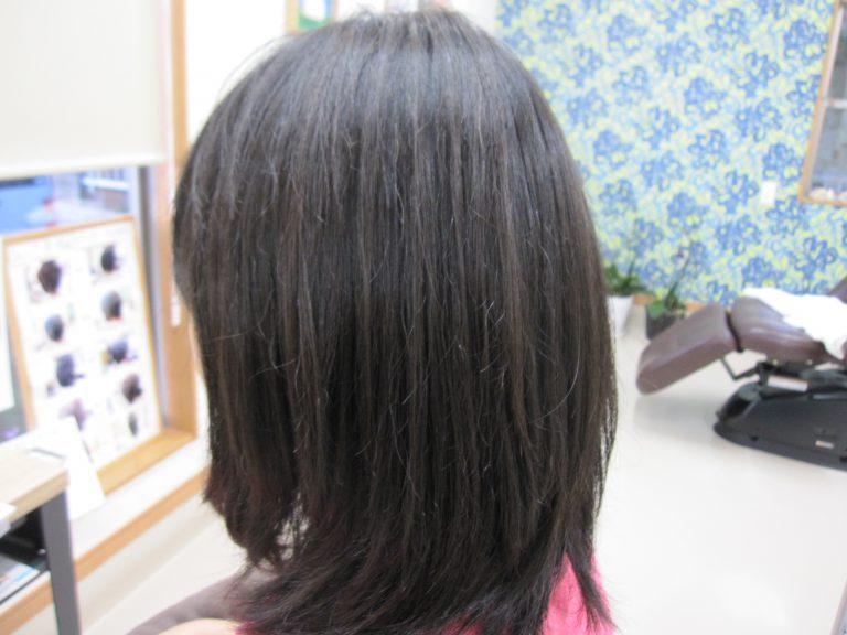 ロングの髪を軽やかに!!
