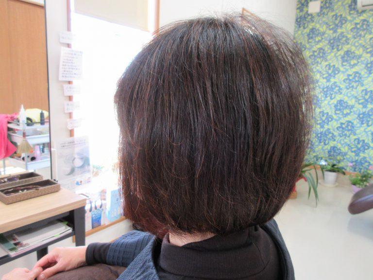 髪が薄くて広がって、人の目が気になって悩んでたそうです。