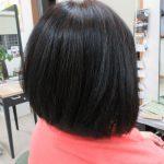 天然ヘナ100%とキュビズムカットで髪型変身です!