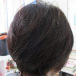 髪がバサバサで広がってた!