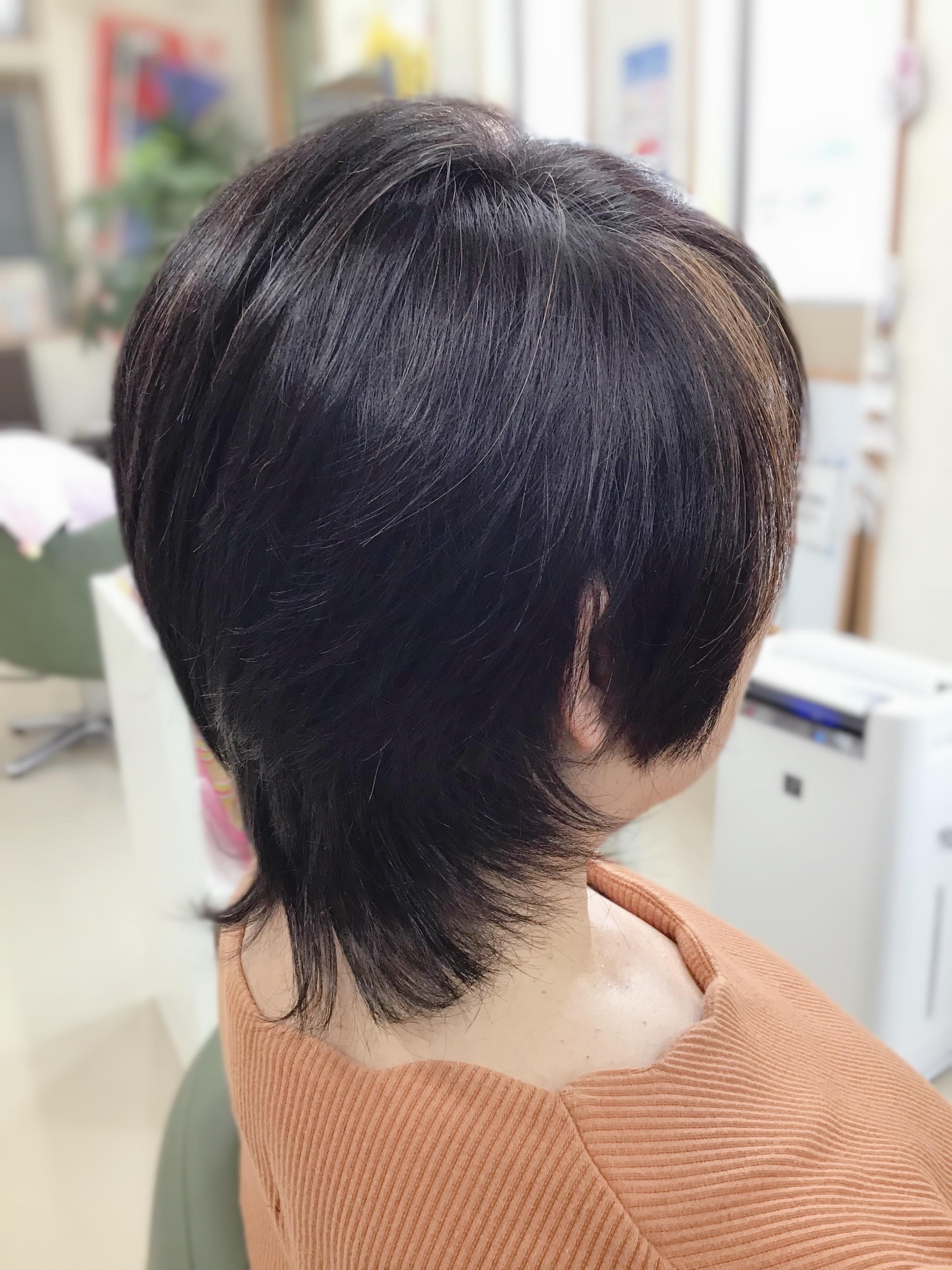 柔らかい髪だけど、形になるキュビズムカット